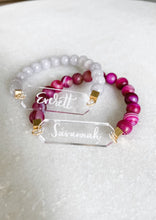 Load image into Gallery viewer, Personalized Name Acrylic Bar Beaded Bracelet - Wondermint Goods