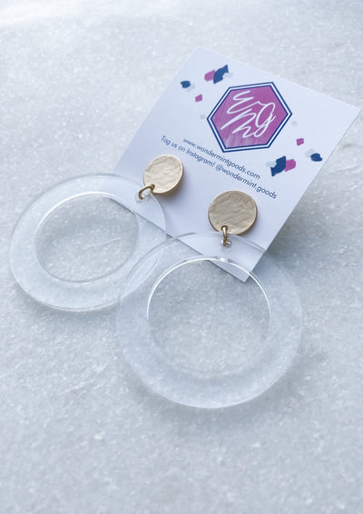 Circle Clear Acrylic Earrings - Wondermint Goods