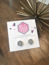 Load image into Gallery viewer, Druzy Hexagon Stud Earrings - Wondermint Goods