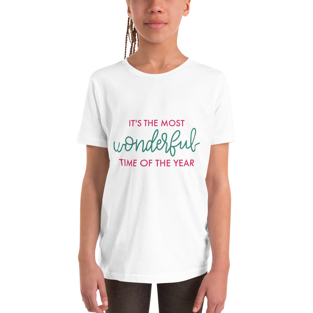 Red & Green - It's the most wonderful time of the year - Youth Short Sleeve T-Shirt