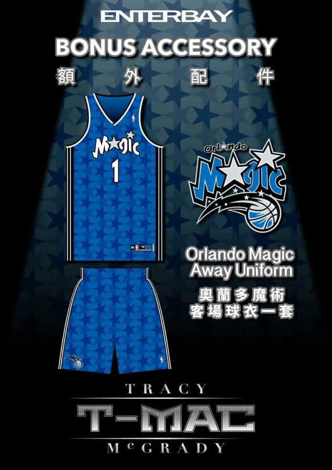 1/6 TRACY MCGRADY Orlando Magic Away Uniform