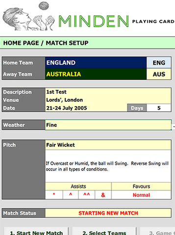 Minden Cricket - Excel Helper for Easy Play
