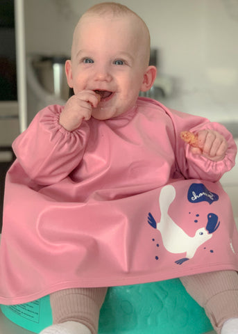 NEW Messy Mealtime (Starter) Smock: 0-12mths