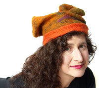 Photo of feltmaker and artist, Juliane Gorman - the maker of the Happy Hats!
