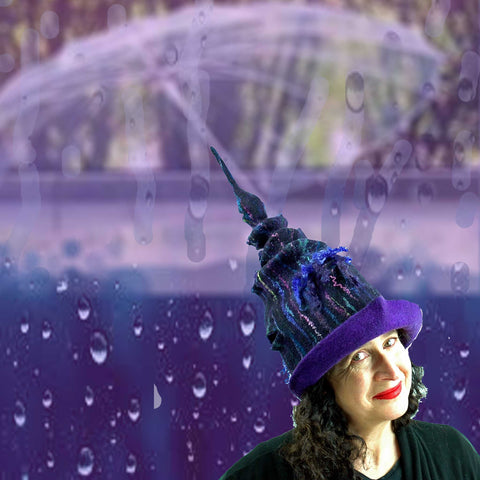 Purple Rain meets Purple Unicorn Wizard Hat