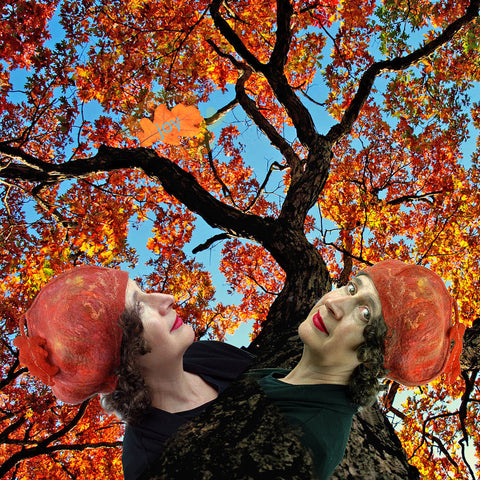 Finding Joy - Orange Beret with Autumn Tree