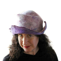 One of the pale purple, pretty pastel hats that I made in February.