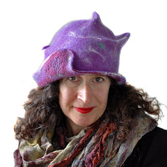 Pretty Purple Felted Hat in a stronger hue