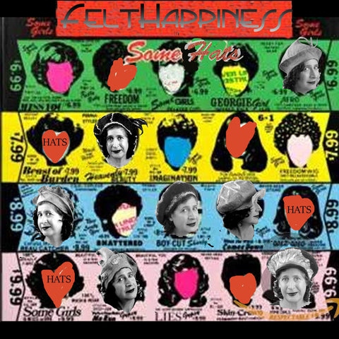 Collage inspired by Rolling Stones' album cover, 'Some Girls.'