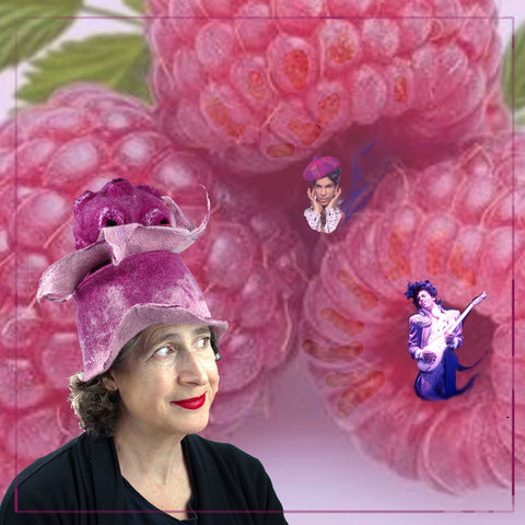 Prince Tribute Collage with Raspberry Bandleader Hat