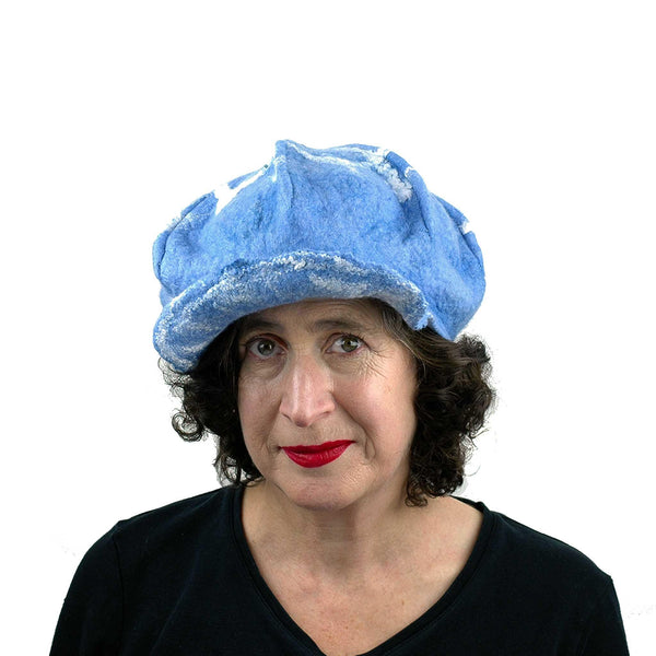 1960s Inspired Blue  Cap - front view