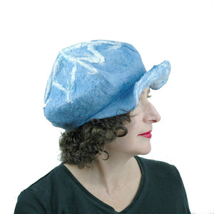 1960s Inspired Blue Cap - side view