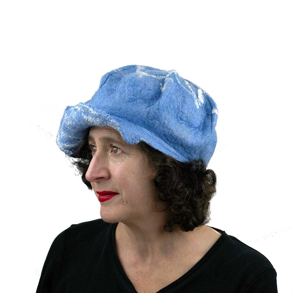 1960s Inspired Blue  Cap - three quarters view
