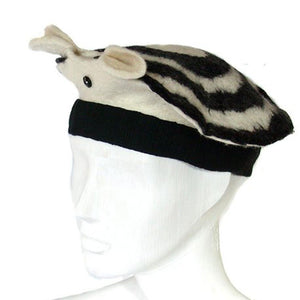 Black and White Animal Hat with Ears