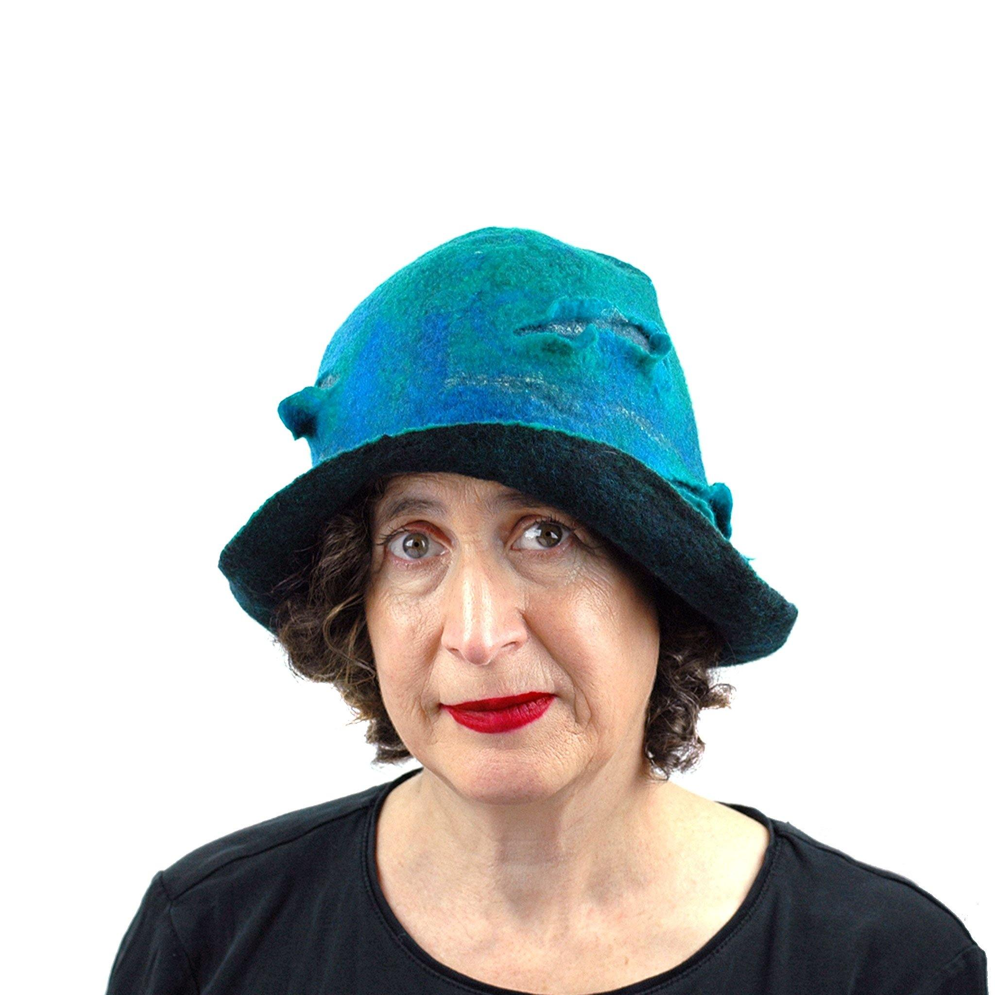 Blue Green Cloche - front view