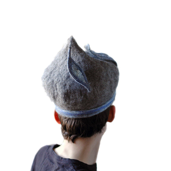Bluegrey Pixie Hat - back view