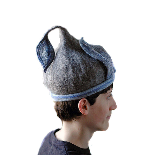 Bluegrey Pixie Hat -side view 2