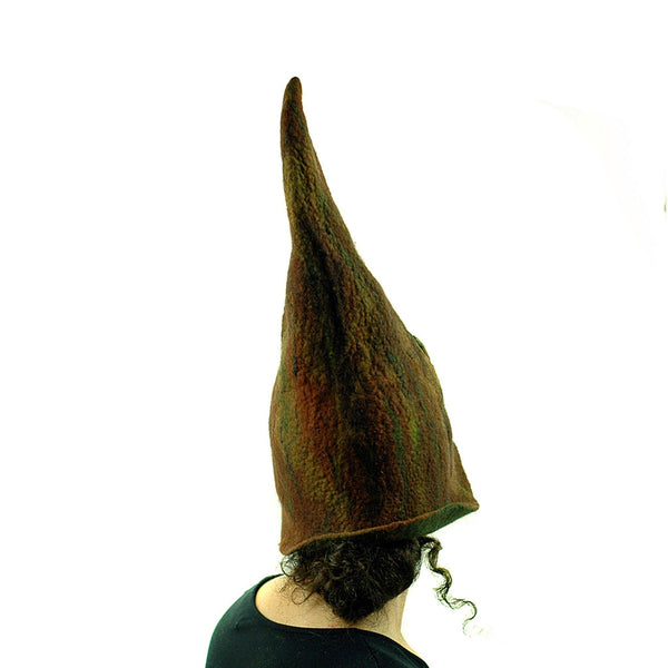 Brown Forest Gnome Hat - back view