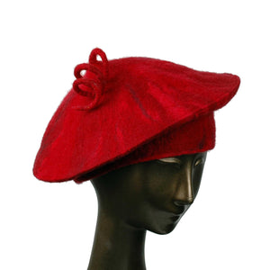 Custom Curlicue Hat Red - threequarters view