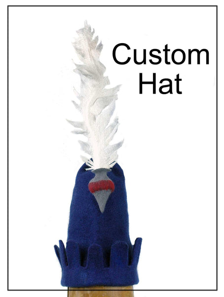 Custom Medieval Inspired Hat with Feather