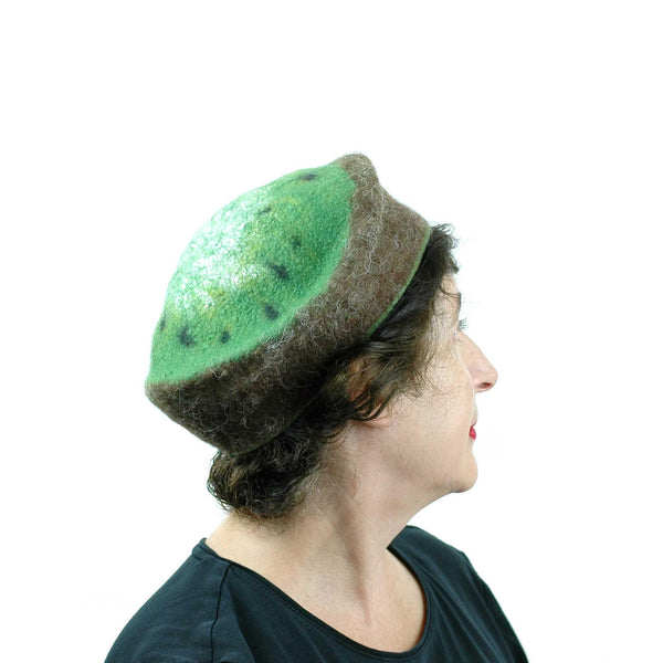 Cute Kiwi Hat in Small Size - side view