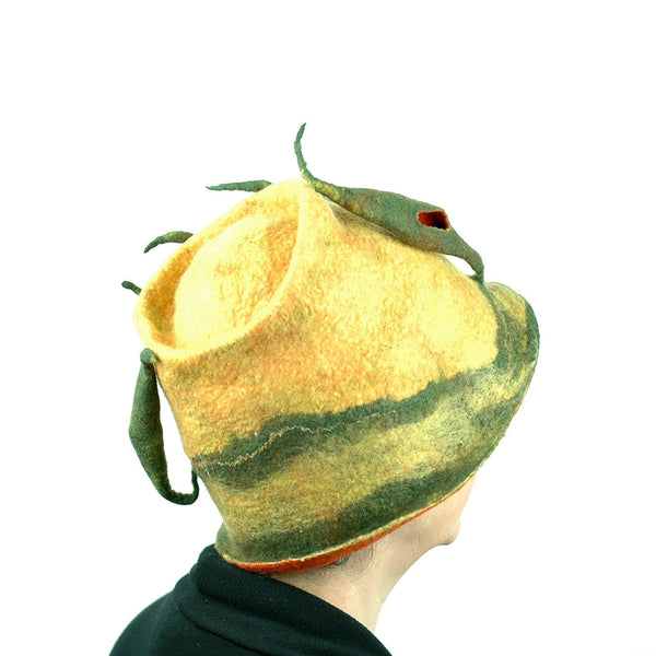 Cypress Tree Felted Bucket Hat - side view