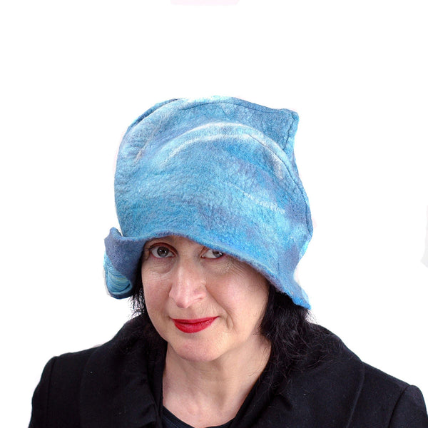 Dusty Blue Cloche - front view