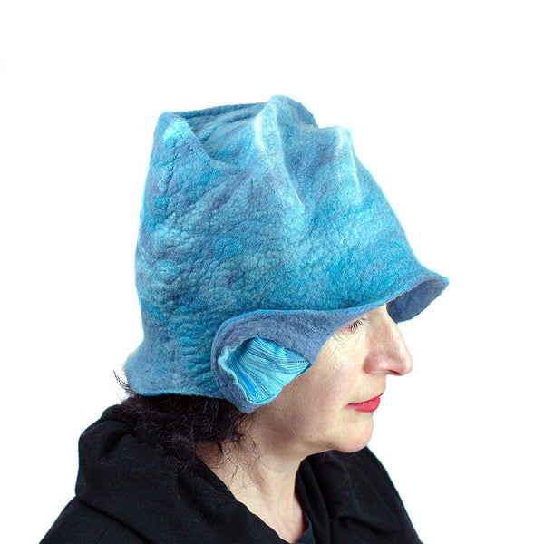 Dusty Blue Cloche -side view 2
