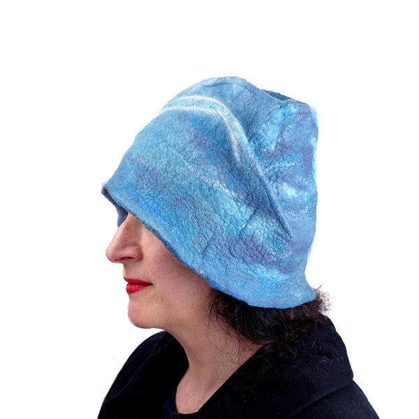 Dusty Blue Cloche -side view