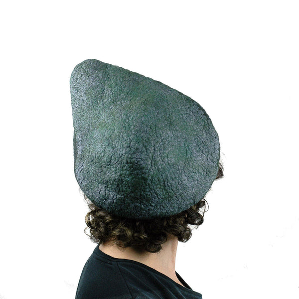 Felted Avocado Hat - back view
