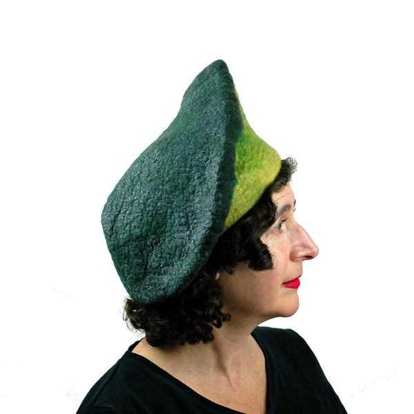 Felted Avocado Hat