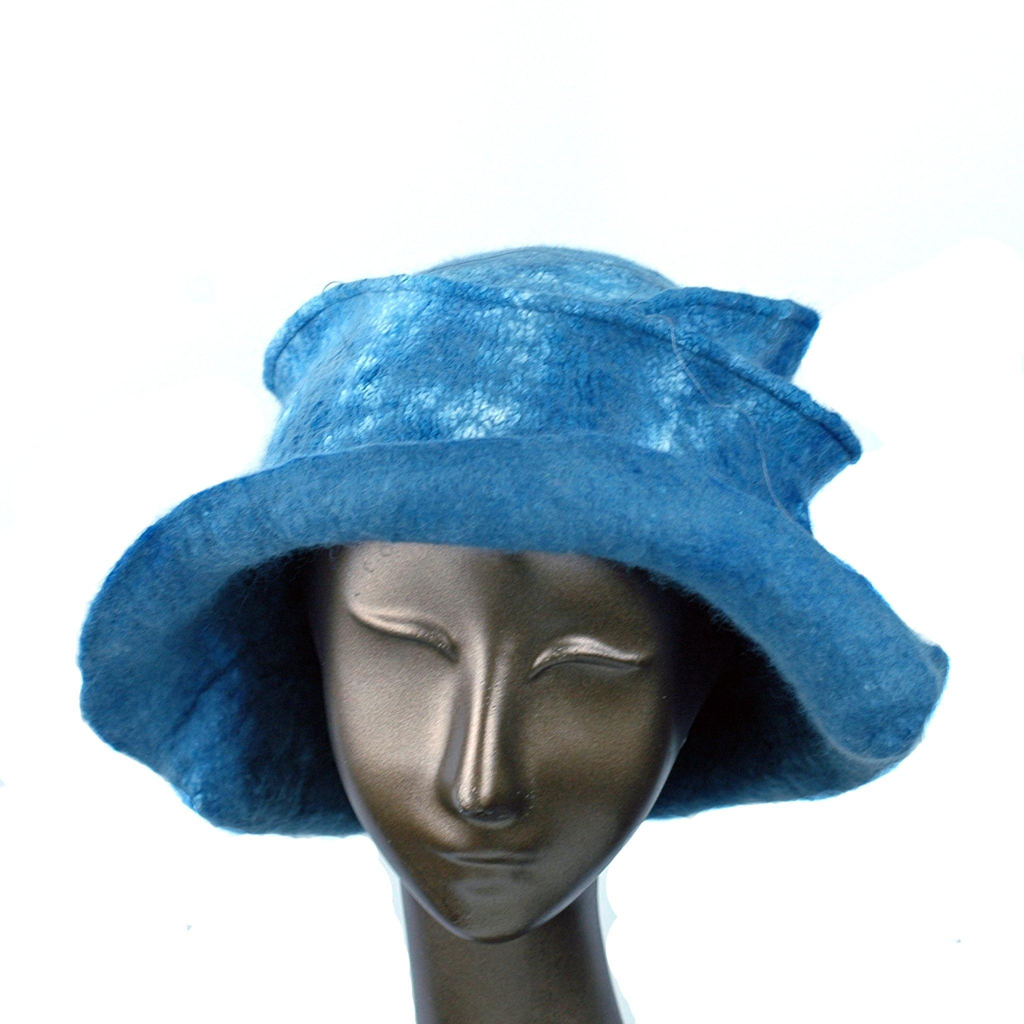 ~ Adopted ~ Nunofelted French Blue Hat