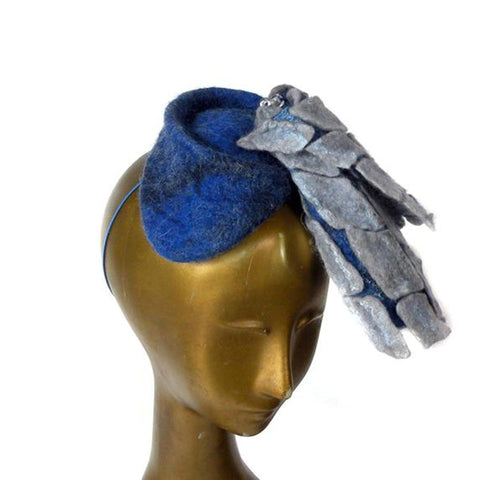 Geometric Blue Fascinator