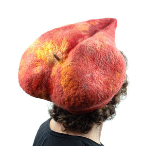 Giant Peach Hat - back view