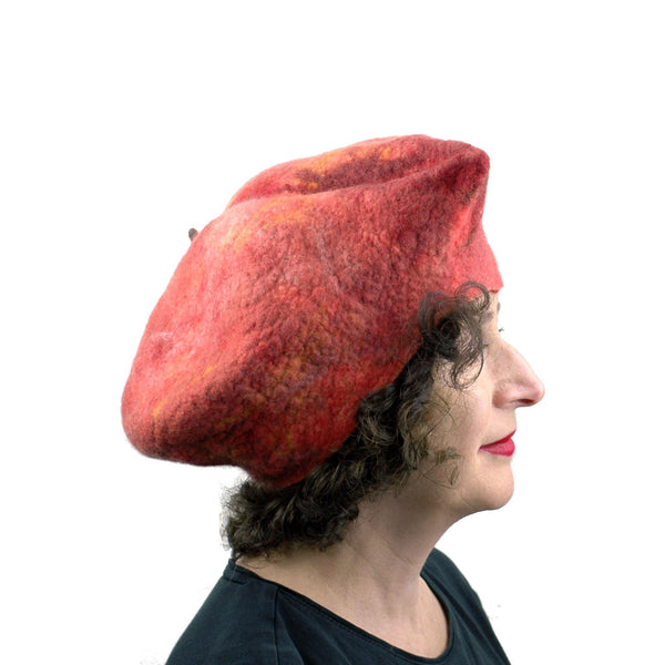 Giant Peach Hat - side view