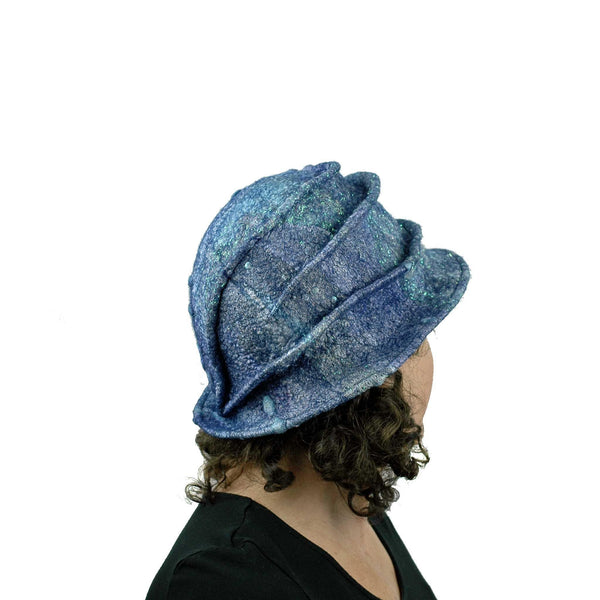 Iridescent Blue Violet Bucket Hat - back view