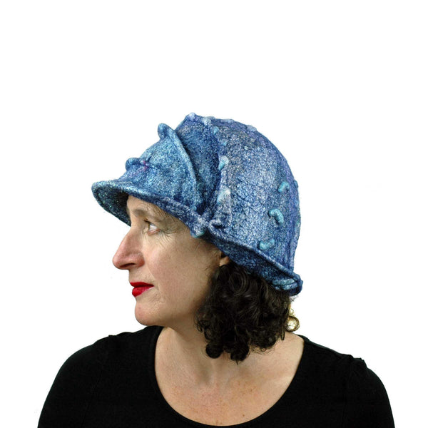 Iridescent Blue Violet Bucket Hat - side view