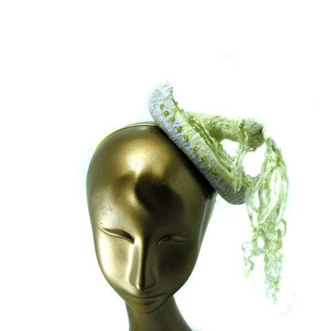 Ivory Cocktail Hat with Dreads