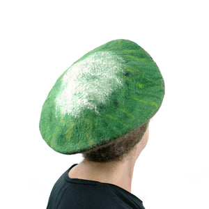 Kitsch Kiwi Beret Extra Large Size - back view