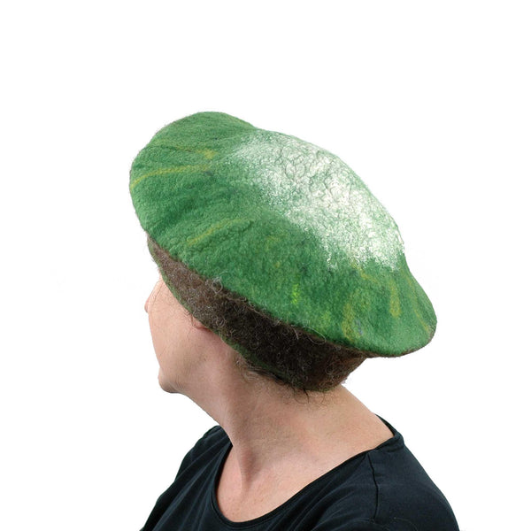 Kitsch Kiwi Beret Extra Large Size - side back view