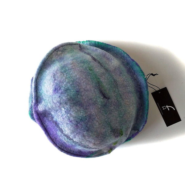 Mermaids Cloche in Green and Purple - top view