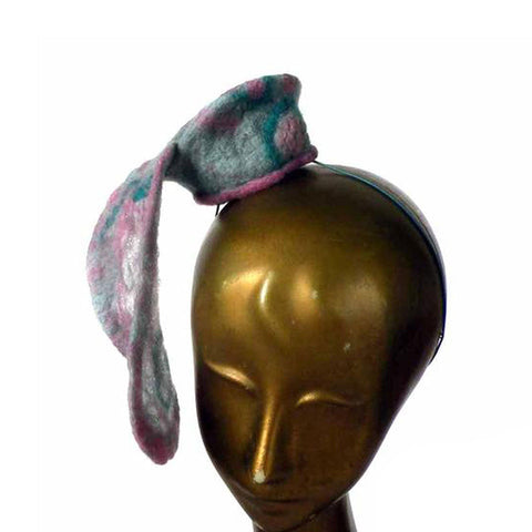 Mini Cocktail Hat in Pink and Teal