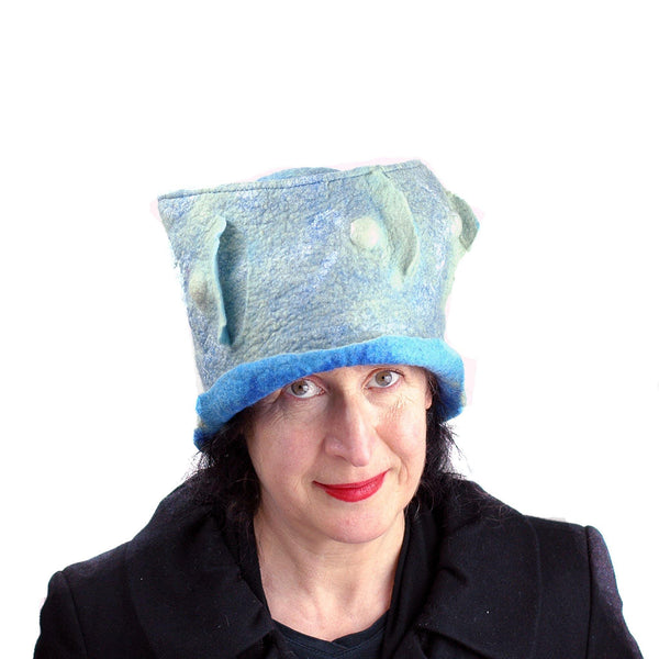 Pale Blue Green Top Hat