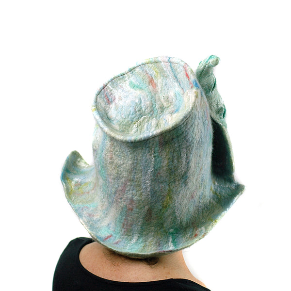 Pale Green Unicorn Fantasy Hat - back view