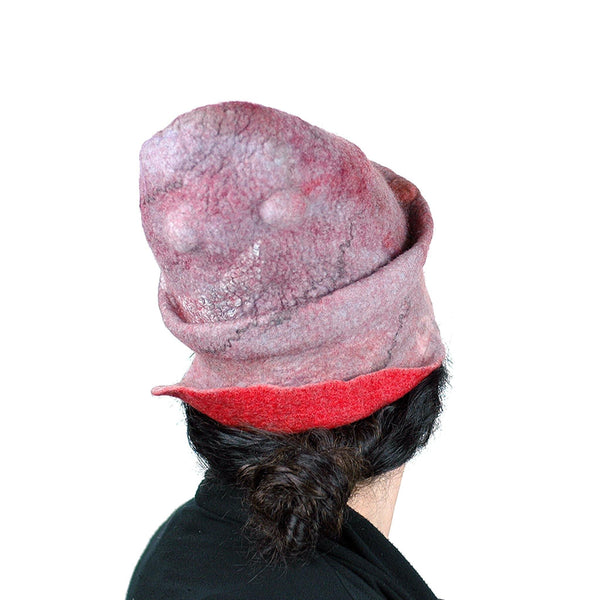 Pink Pastel Colored Newsboy Hat - back view