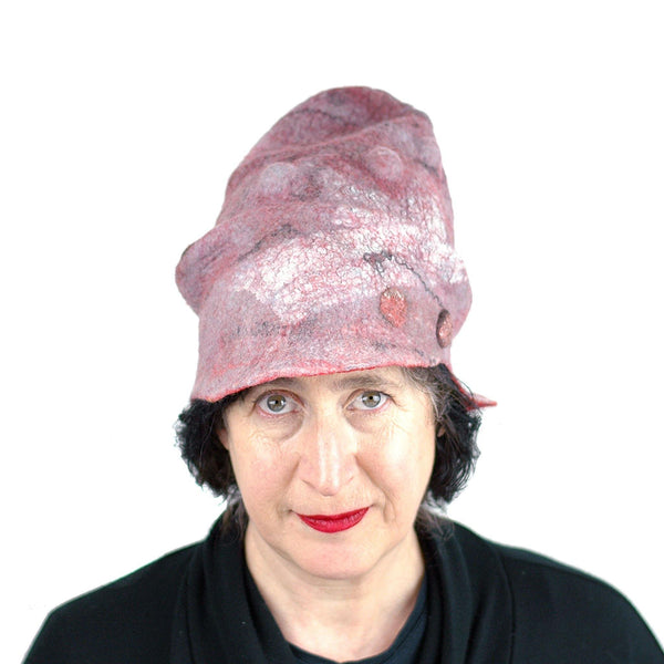 Pink Pastel Colored Newsboy Hat - front view