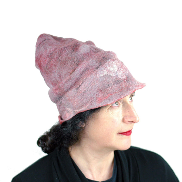 Pink Pastel Colored Newsboy Hat - threequarters view