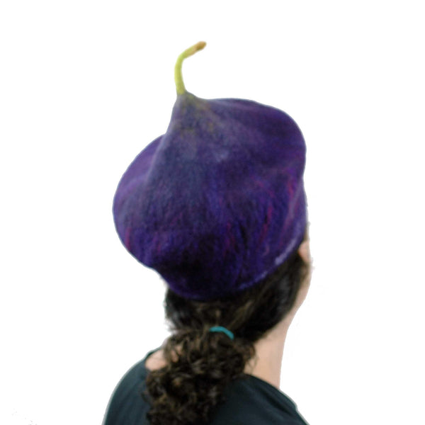 Purple Fig Felted Cap Small Size - back view
