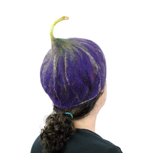 Purple Fig Hat Medium Large - back view