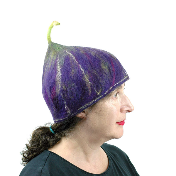 Purple Fig Hat Medium Large - side view